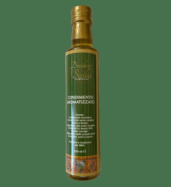 Olio di oliva aromatizzato al limone